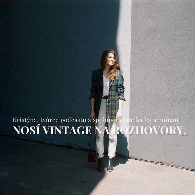 Kristýna Klímová, podcasterka O kousek blíž nosí vintage na rozhovory